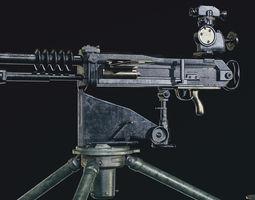 3D asset Hotchkiss M1914 machine gun
