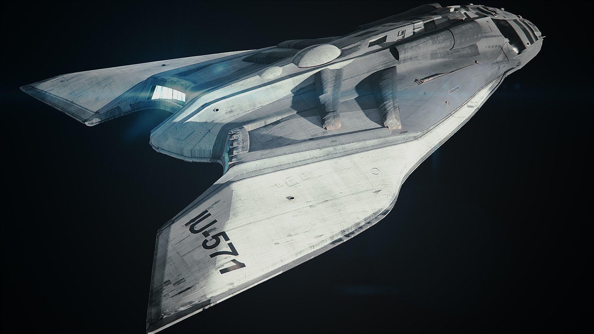 Spaceship medium poly