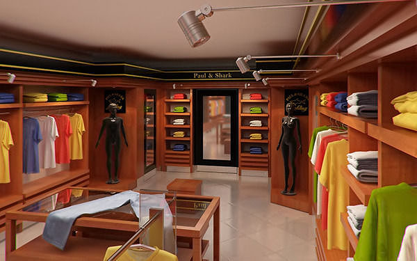 Clothing Store interior for Men and Women Render Ready 3D Model ...