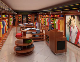 3d clothing store interior for men and women render ready