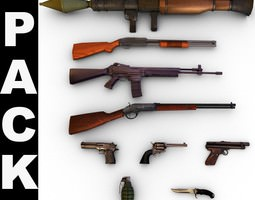 3D Modern Weapons Pack