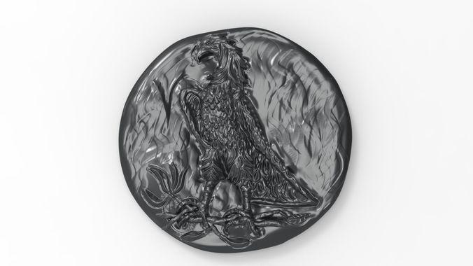 antique money eagle  3d model obj mtl stl 1