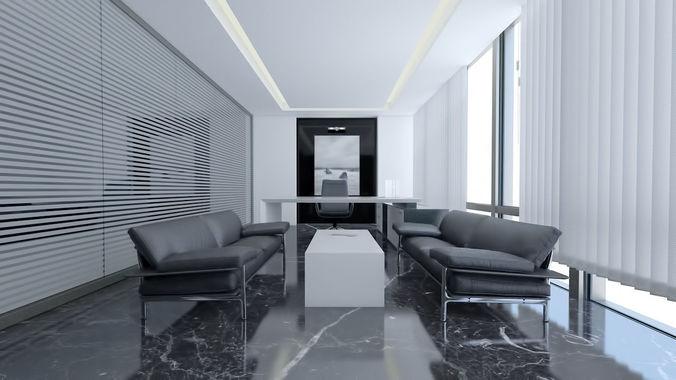 3d modern luxury office manager room scene designmodern luxury office manager room scene 3d model max obj mtl fbx
