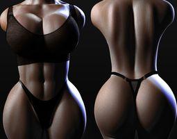 3D model torso of a woman 2