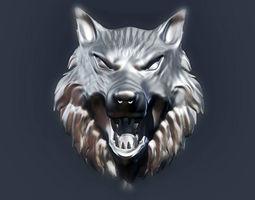 wolf head 2 3d printable model