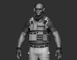 art Soldier 3D printable model