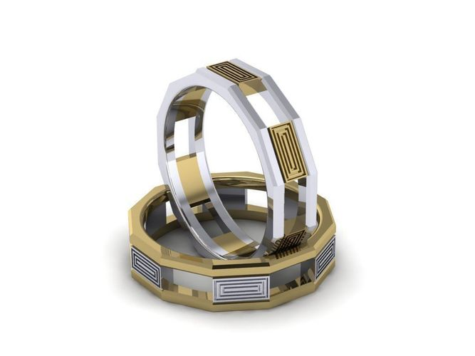 wedding band  man 3d model stl 3dm 1