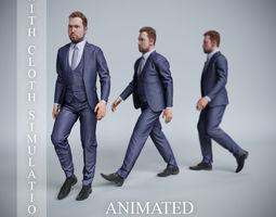 businessman walk 3D