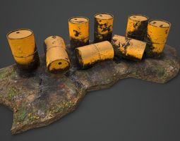 3D asset Warhammer Tabletop leaking Barrels