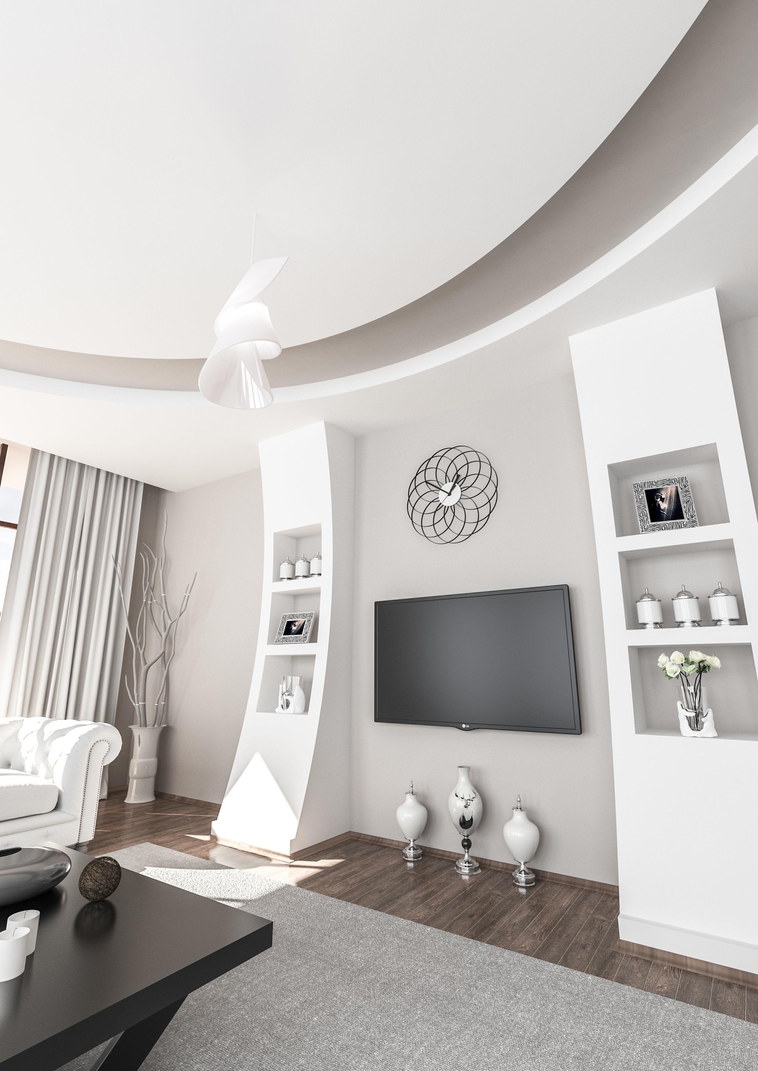 3d Room Interior Design: Interior Room Tv Unite Desing3 3D