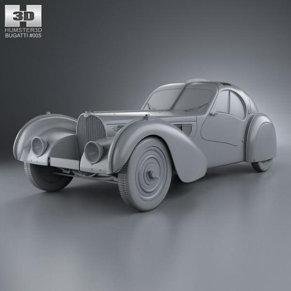 Bugatti Type 57SC Atlantic 1936 3D | CGTrader