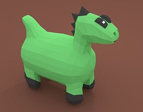Chibi Dinosaurus 3D Model game-ready