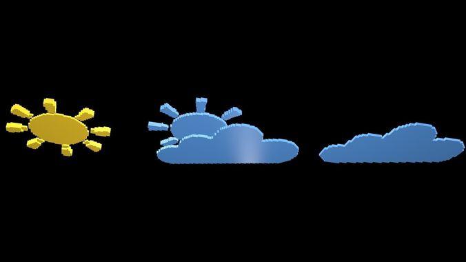 weather symbol 3 3d model obj mtl 3ds fbx stl blend x3d 1