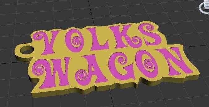 volkswagon - pulp fiction style 3d model stl 1