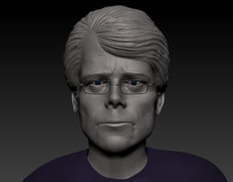 Stephen king Face bust 3d Print Ready