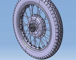 Wheel motorcycle M72 18 inch 3D model