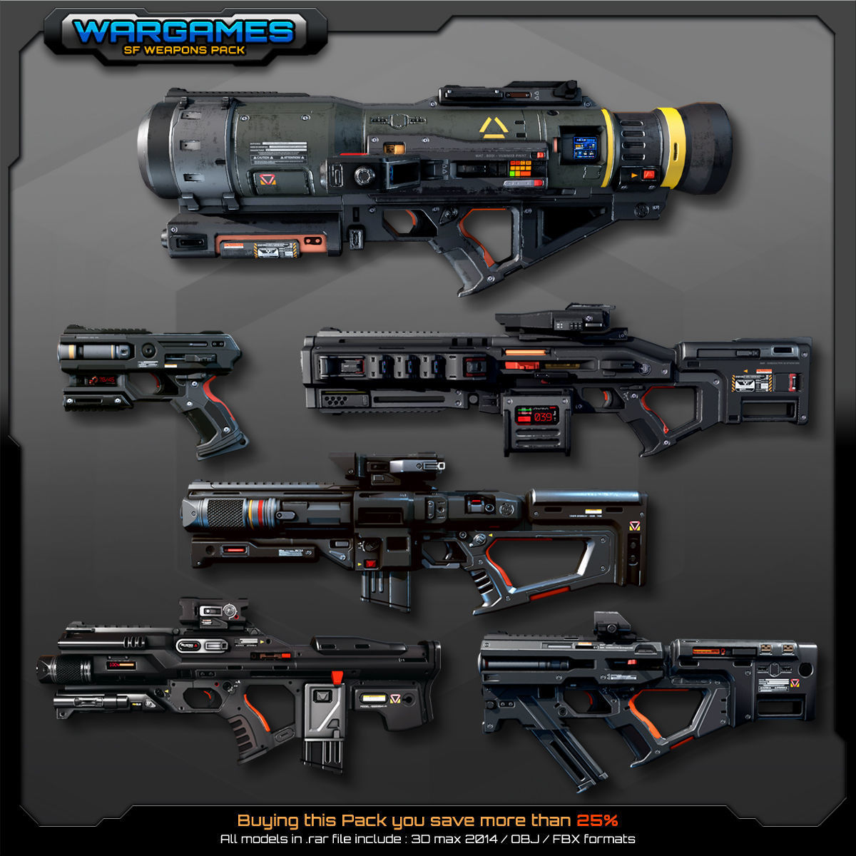 6 SF Weapons Pack