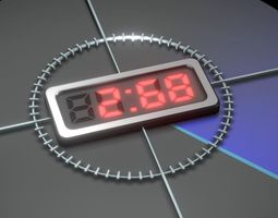 3D model Video-Countdown-5-4-3-2-1