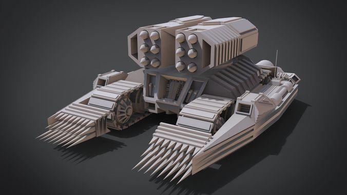 nightmare tank 3d model obj mtl fbx stl blend x3d ply 1