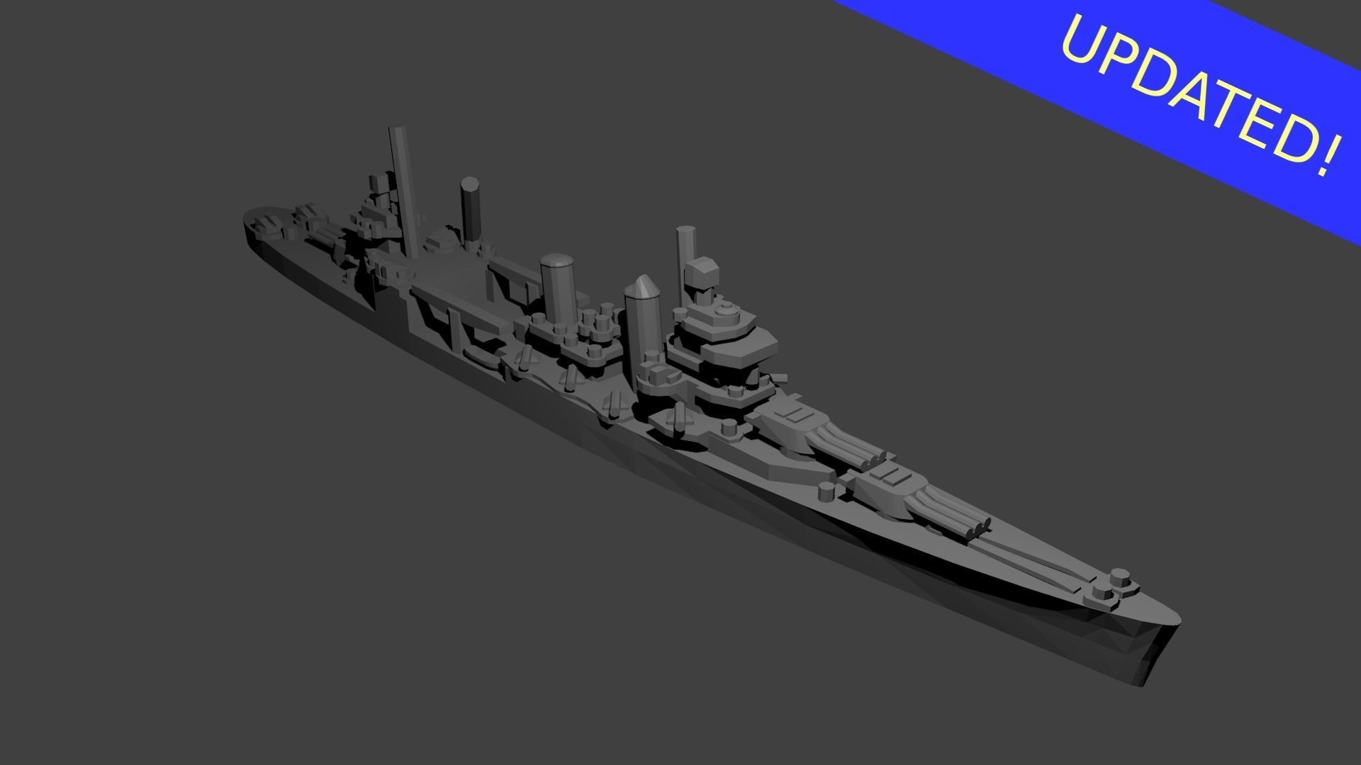 US New Orleans Class Cruiser Warship