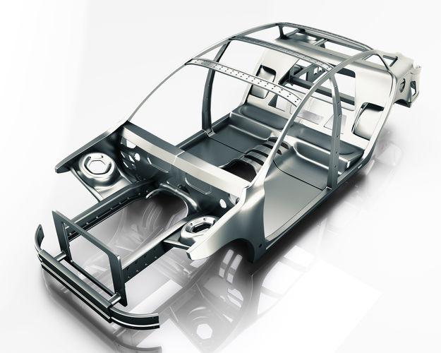 Car Frame Vray Ready 3d model   CGTrader
