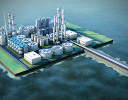 Oil Terminal 3ds max scene Vray ready