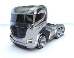 Truck Future Concept 3d model Vray Corona