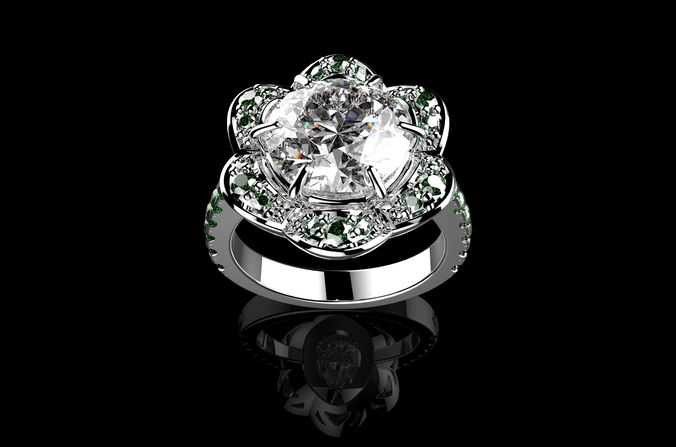 beautiful fashion jewelry ring n2 3d model stl 3dm 1