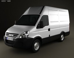 Iveco Daily Panel Van 3300 H2 2008 3D Model