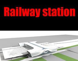 railway station 013 3d model