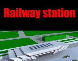 railway station 014 3d