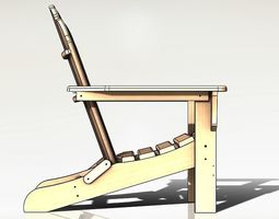 CHAIR Laser Cutting Plywood 3D print model
