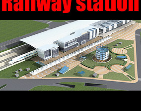 3D Railway station architectural