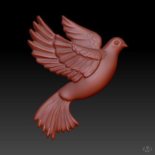 flying pigeon 3d model obj mtl 3ds fbx c4d stl dae 1