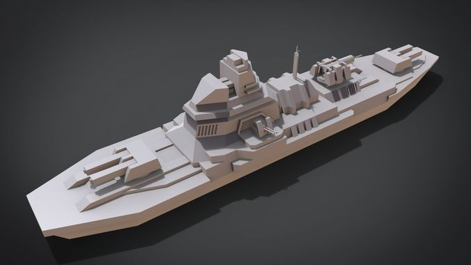 anti-ship destroyer 3d model obj mtl fbx stl blend x3d ply 1