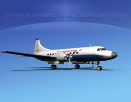 3D model Convair CV-340 Eastern Airlines 2