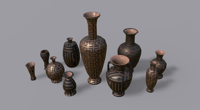 vases pbr - vol 2 3d model low-poly max obj mtl 3ds fbx dae dwg 1