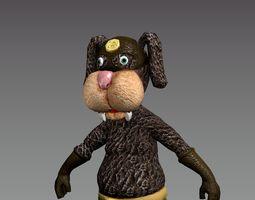 3D asset jokey Cartoon Dog Super Hero
