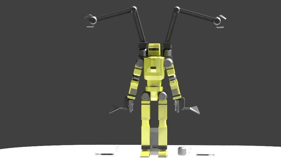 Low Poly Construction Mech -Adjutor