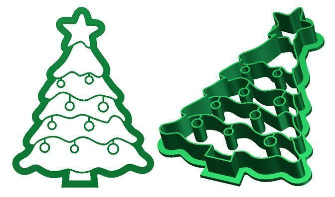 Christmas tree Cookie Cutter 3D print model | CGTrader