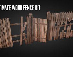 Ultimate Wood Fence Kit 3D asset