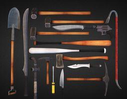 survival weapons hd vol 1 VR / AR ready 3d asset