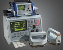 Medical Defibulator HPL - PBR Game Ready 3D model