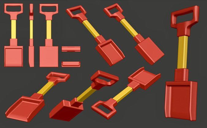 scoop or shovel for children 3d model obj mtl 3ds fbx stl blend 1