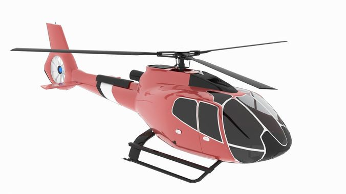 helicopter h 130 animated low poly 3d model low-poly animated max obj mtl 3ds fbx 1