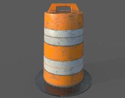 Low Poly Traffic Barrier 3D model