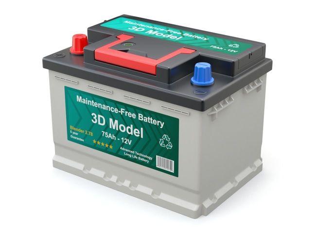car battery 3d model obj mtl fbx blend 1