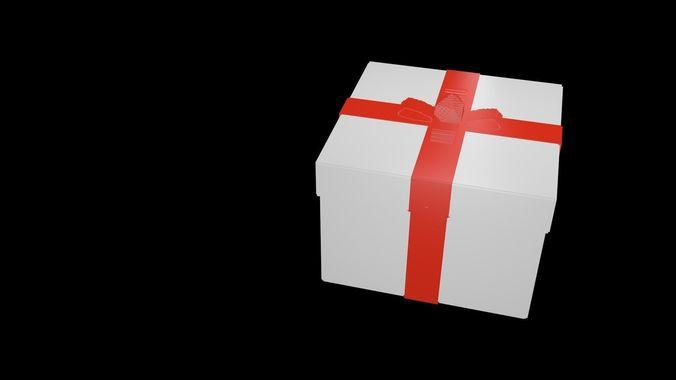 gift voxel 3d model obj mtl fbx stl blend x3d ply 1