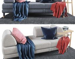 FLOTTEBO Sofa-bed 200x90 cm 3D model sofa