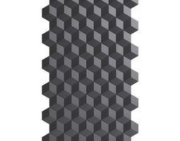 Black Wall Panel 3D model